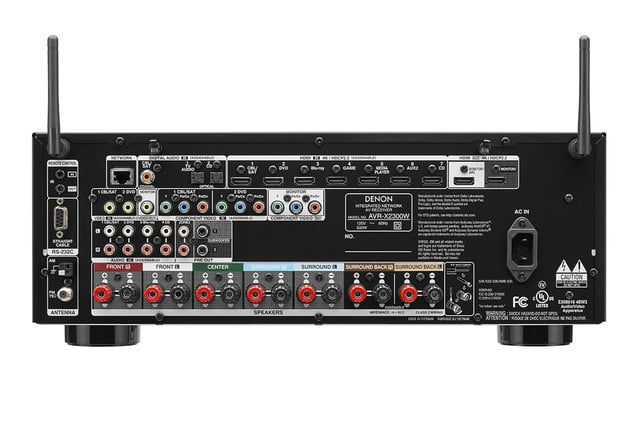 denon announces avr x1300 x2300 receivers x2300w back
