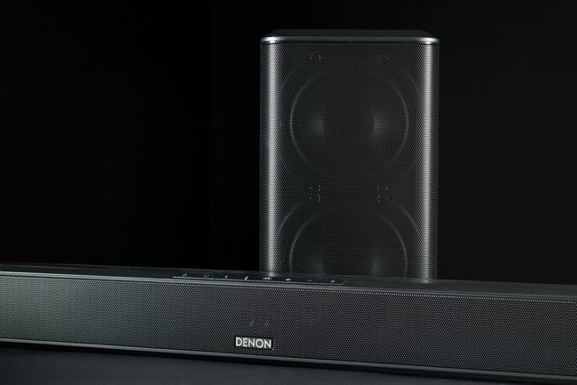 Denon DHT S514 review soundbar and sub front 3