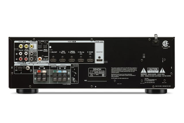 denon destroys price barriers 250 av receiver armed bluetooth 4k s500bt rear
