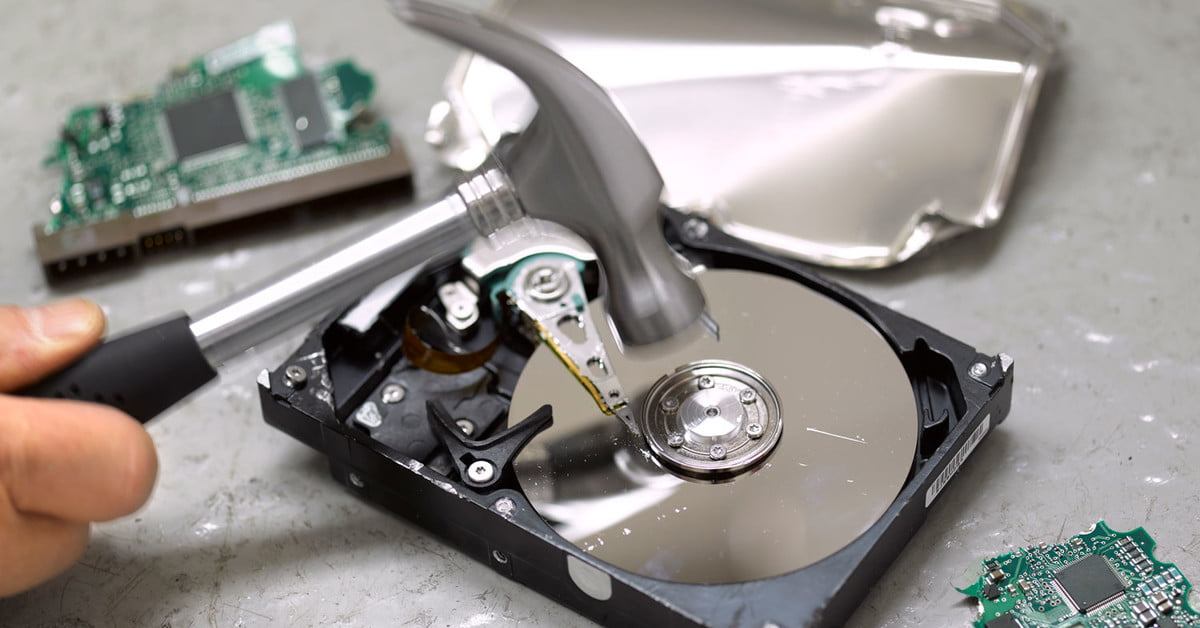 How to delete a hard disk
