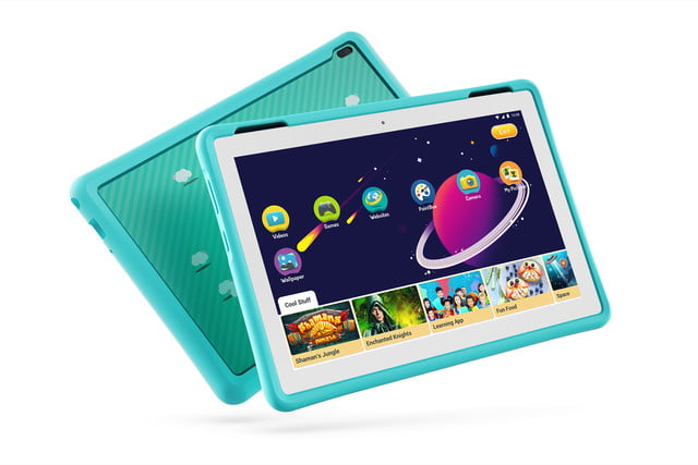 lenovo mwc refresh yoga miix flex tab4 05 hd 10inch with kids bumper blue hero front facing right wifi white