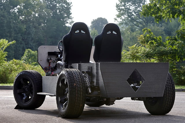 Oak Ridge National Laboratory AMIE 3D-printed car and house