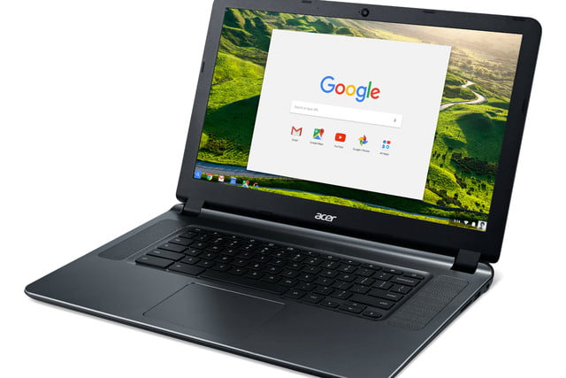 acer chromebook 15 12 hours battery life cb3 532 left facing gwp