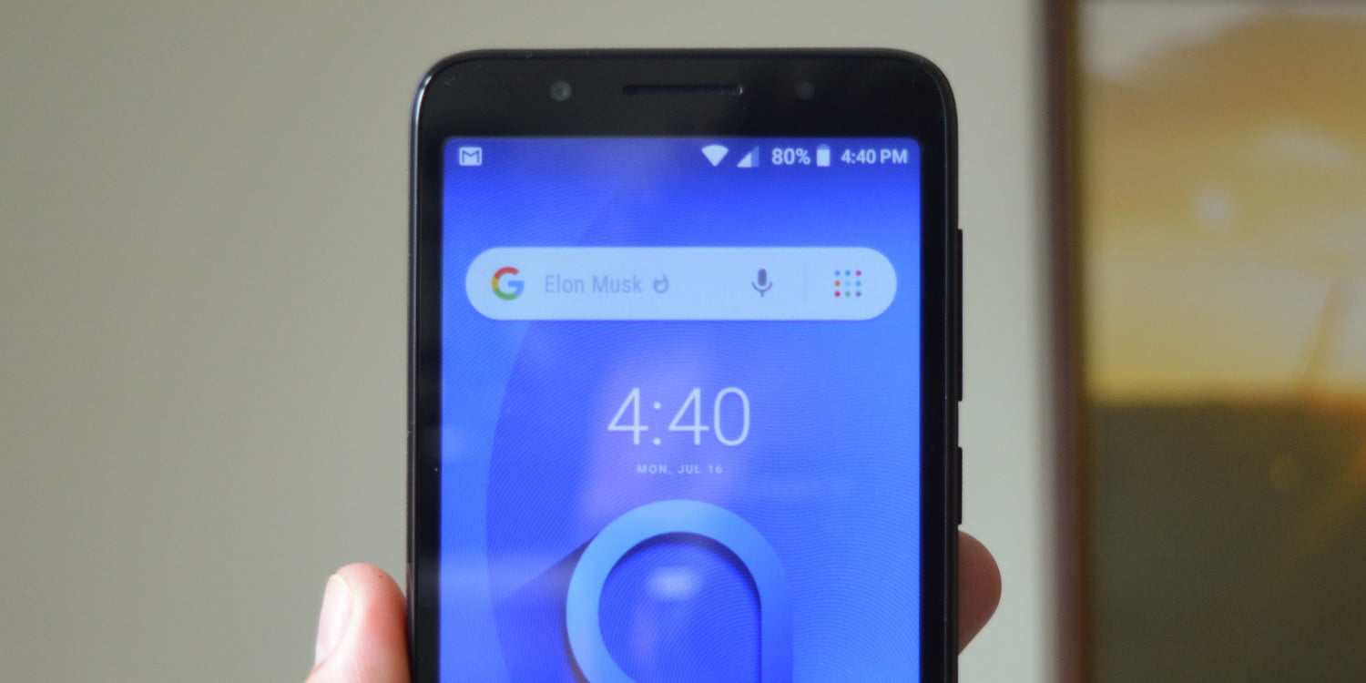The Alcatel 1C: An Android Go smartphone minus the bulk