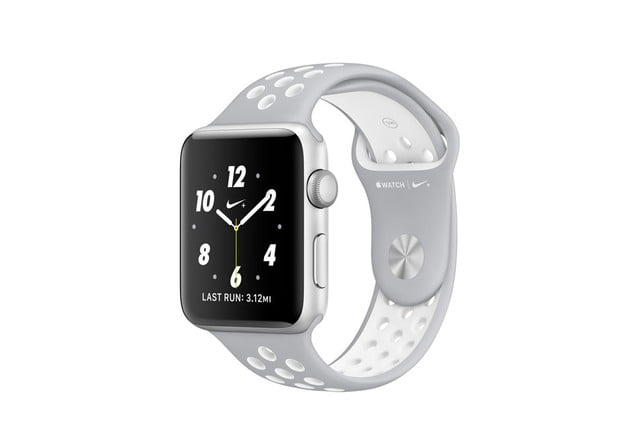 apple watch 2 news nike  silver white sport large