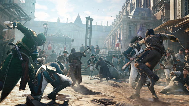 assassins creed unity reveals new weapons missions team opportunities crowdcombat