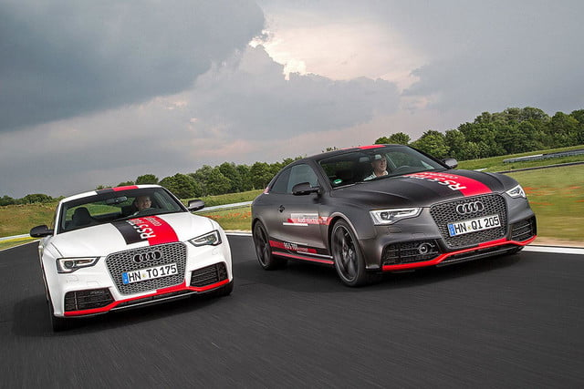 audis rs5 tdi concept uses electronic turbocharger developed le mans audi  press white and black 2