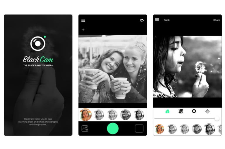 best black and white photo apps blackcam