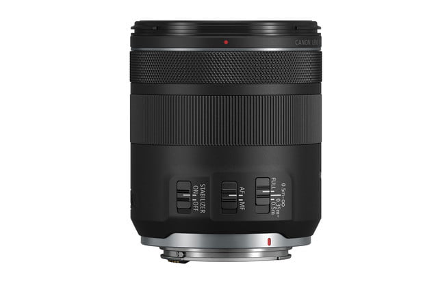 Canon RF 85mm f/2 Macro on white background