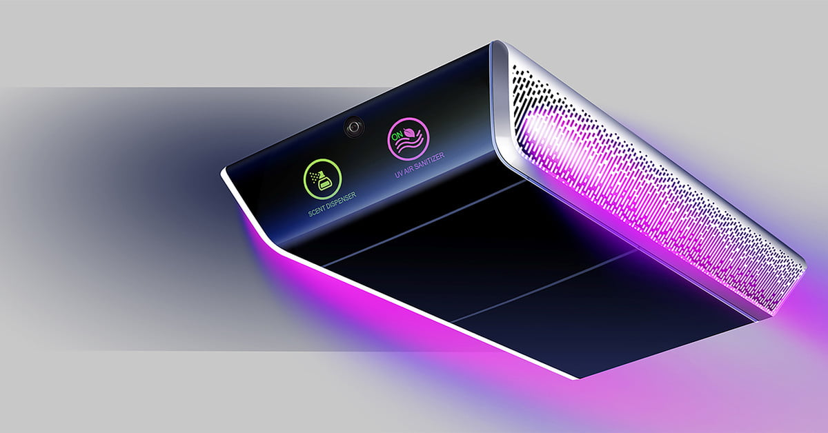 New UV air purifier kills germs in rideshare cars