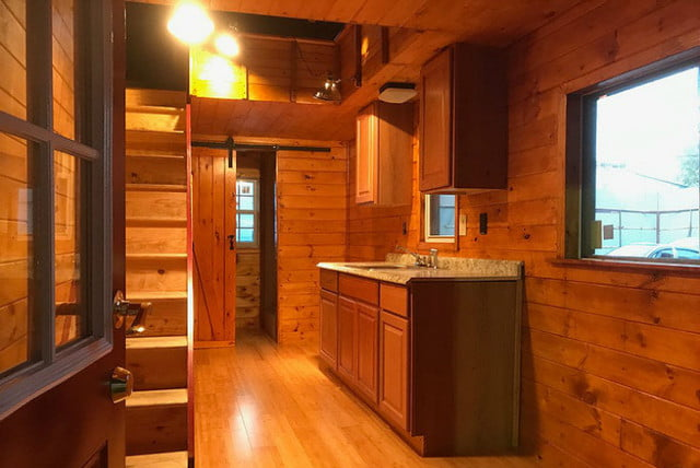 Tiny House on Wheels Raises Its Second Story When Parked ... on raised roof home, raised roof design, flat house plans, garage house plans, condo house plans, floor house plans, raised roof kitchen, raised roof construction, windows house plans, tv house plans, heavy duty house plans,