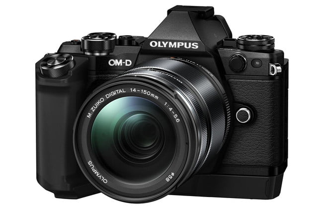 olympus e m5 mark ii puts focus movie stabilization 40 megapixel photos m5markii blk right m14 150 2 hld8g
