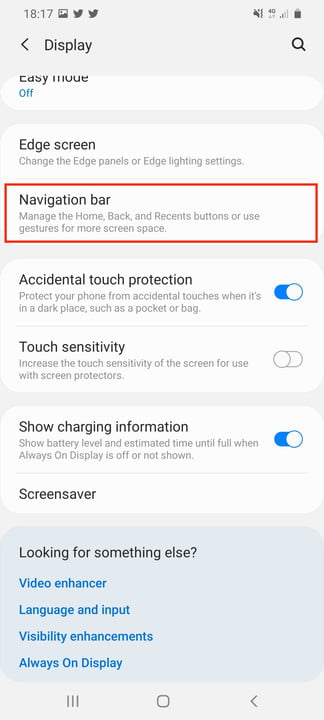 galaxy s20 ultra tips tricks settings nav setting