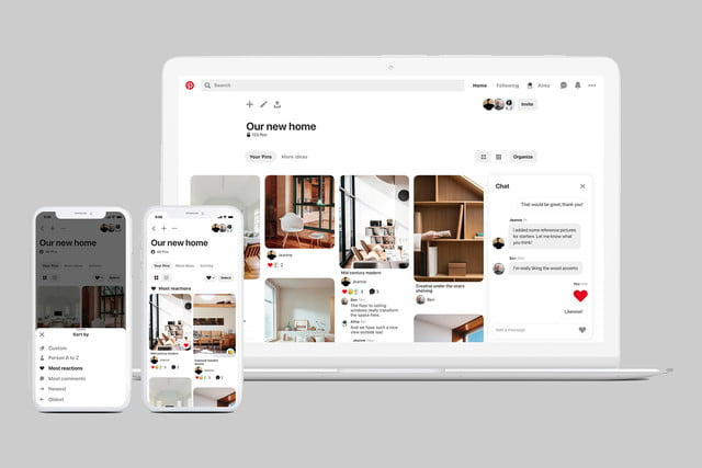 pinterest group board reactions communication