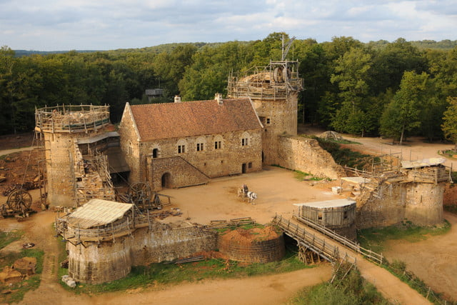 the guedelon castle is being built with 13th century techniques gu  delon