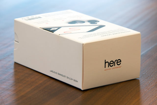here active listening system hands on earbuds box2