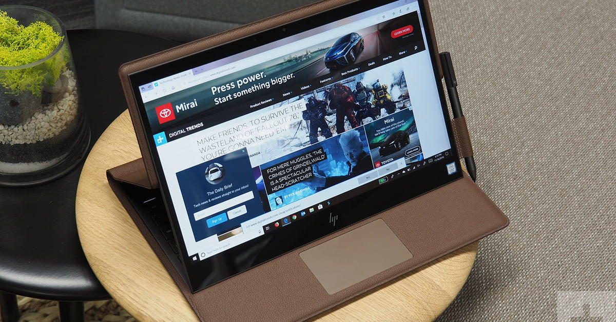 Score an incredible $481 off this HP Spectre Folio leather laptop on Amazon