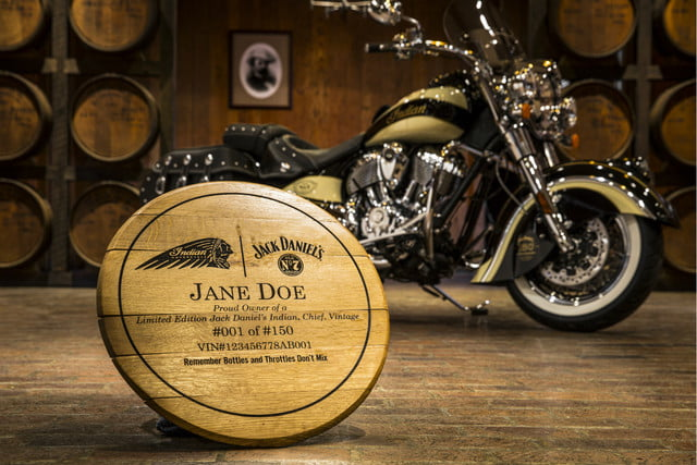 Indian Motorcycle Jack Daniel's custom barrel