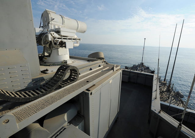 navy tests laser weapon system uss ponce laws2