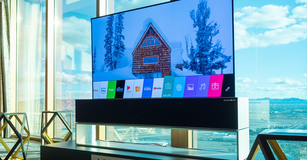 LG's roll-up OLED TV is every bit as magical as you've
