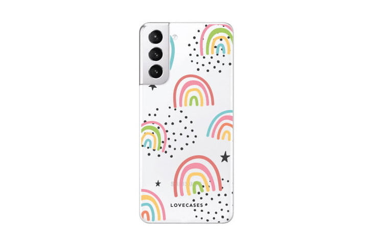 LoveCases Abstract Rainbow Case for Samsung Galaxy S21