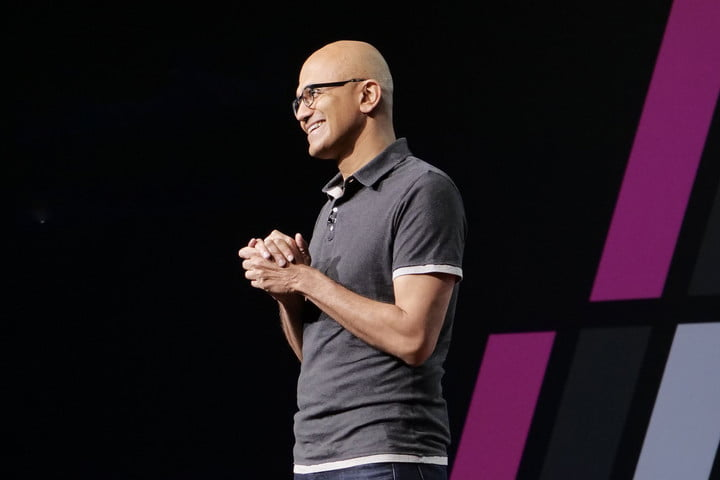 Microsoft 365 Windows Build 2018 Ceo Satya Nadella en función