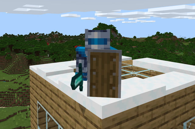 Minecraft Crouch with Shield