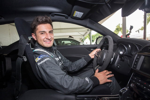 mitch evans in drivers seat