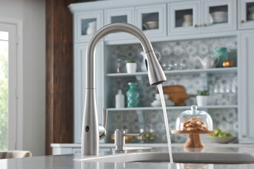 The Moen Essie Touchless Faucet Brings Sense And Style To ...