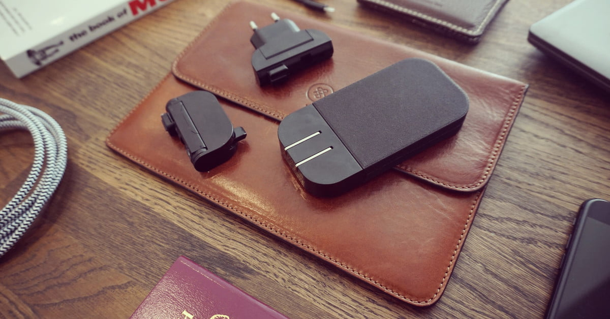 The Mu Two international travel charger can fast charge your laptop and phone at the same time