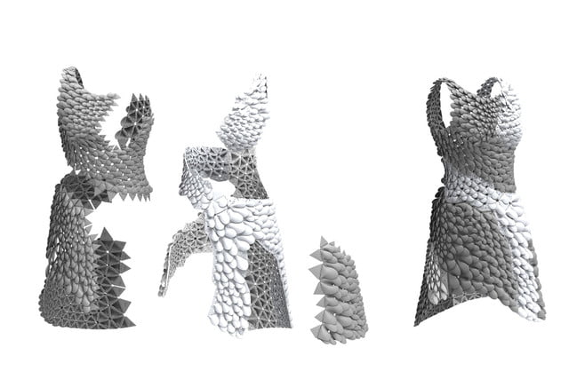3d printed dress petal kinematics nervous system kinematic petals 0012