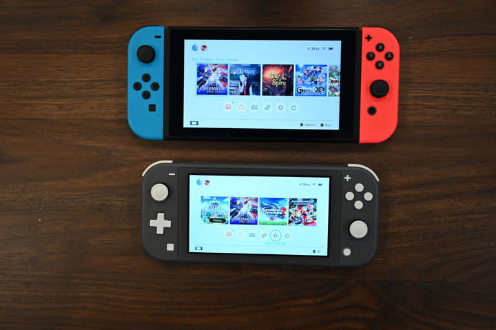 nintendo switch lite review display