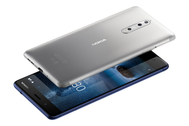 Nokia 8 steel and blue