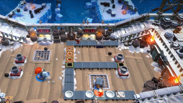 A map of Overcooked with enhanced graphics for the PS5 and Xbox Series X