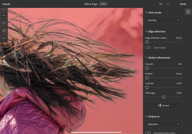 how to use photoshop for ipad refine edge hair1 copy