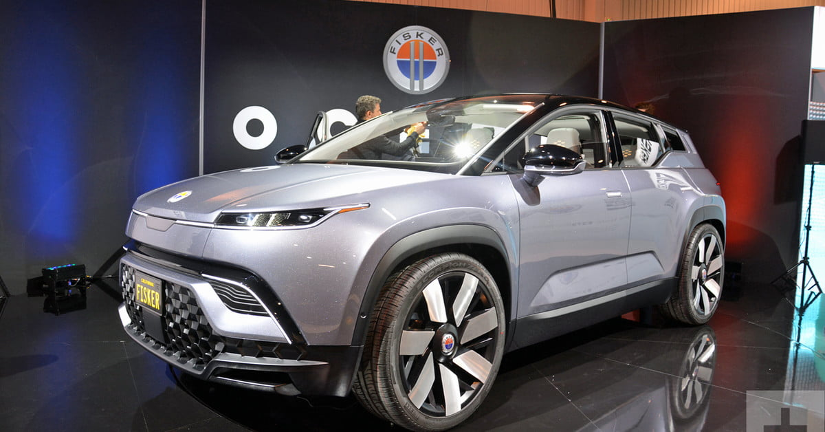 Sub-$40K Fisker Ocean electric SUV rolls into CES after long-awaited debut