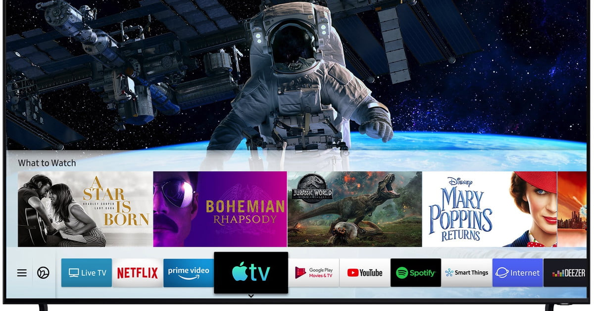 Samsung's TVs Are First to Get AirPlay 2, Apple TV App, And