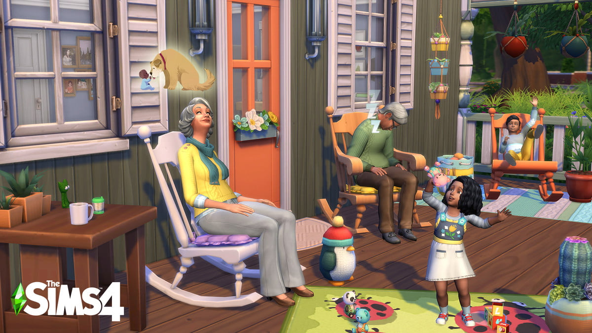 The screenshot of the Sims 4 Nifty Knitting Stuff Pack