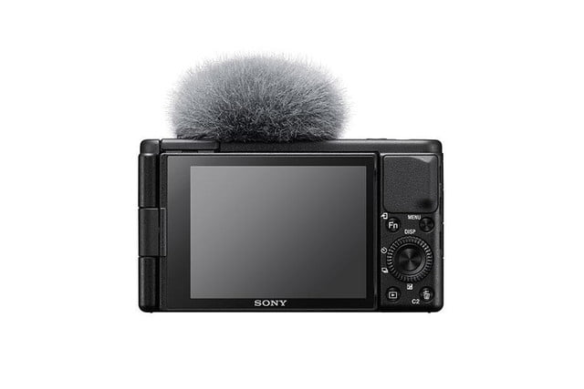 sony zv1 content creators camera announced zv 1 back with wind screen