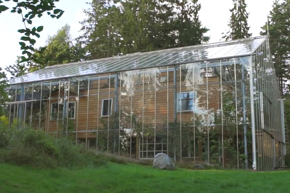 Sensational Swedish Family Lives In A House Inside A Greenhouse Home Remodeling Inspirations Gresiscottssportslandcom