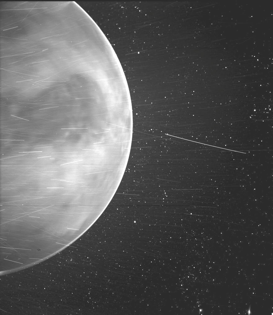 Gorgeous image of Venus snapped by the Parker Solar Probe on its way past