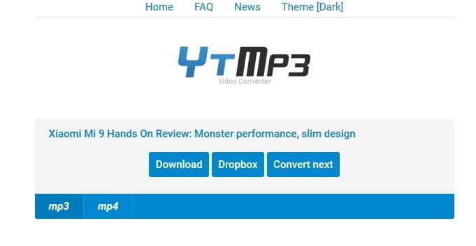 download page for ytmp3