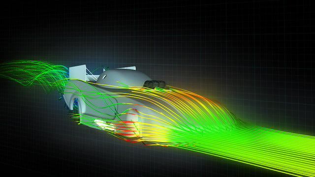 mopar dodge funny car nuevo modelo computational fluid dynamics  cfd were used to simulate and test the interaction of air wi