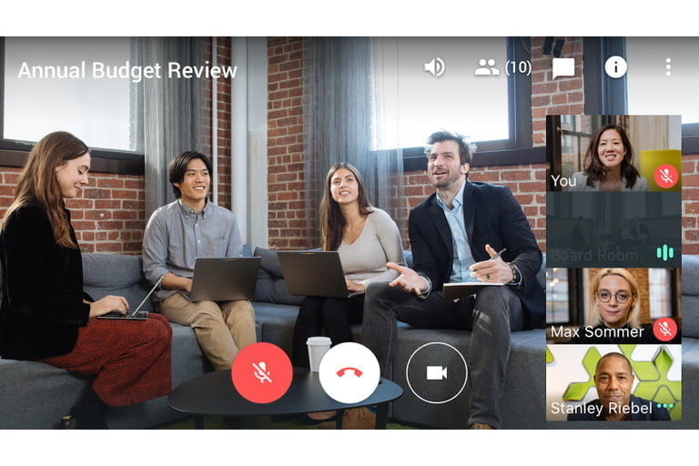 Hangouts Meet, one of the best applications for video conferencing