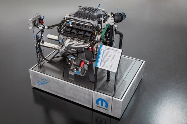 motor hellephant dodge charger mopar the brand is stampeding into 2018 specialty equipment market association sema show with