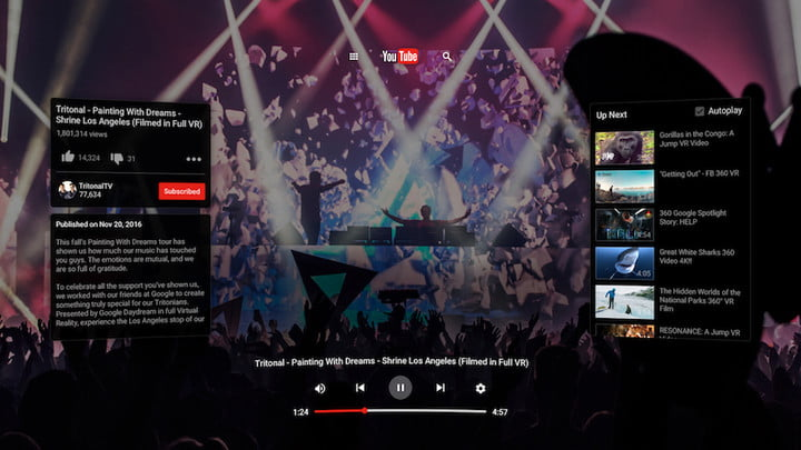 google lanza daydream view con mas apps compatibles youtubevr watch spherical player