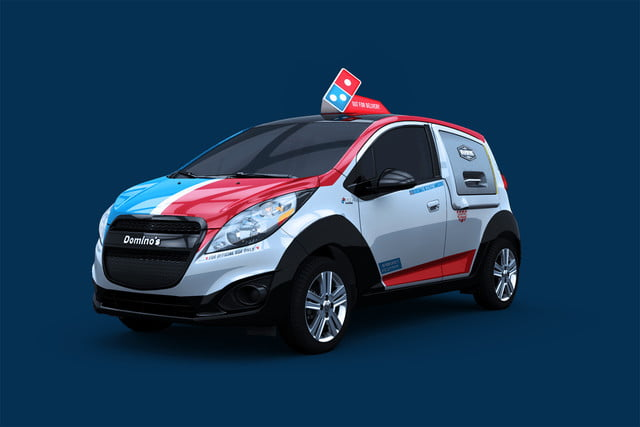 dominos innovative dxp chevrolet spark pizza delivery car 2