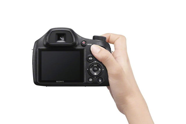 new sony cybershot cameras announced 2014 cp plus dsc h400 shooting rear 1200