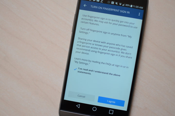 You Can Log Into Chase\'s Android App With Your Finger | Digital Trends