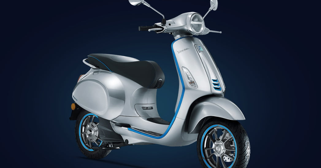 vespa elettrica piaggio 39 s first all electric scooter is. Black Bedroom Furniture Sets. Home Design Ideas
